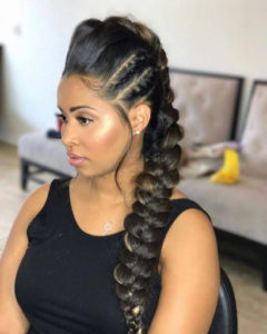 Look like a total bombshell with a fishtail pony